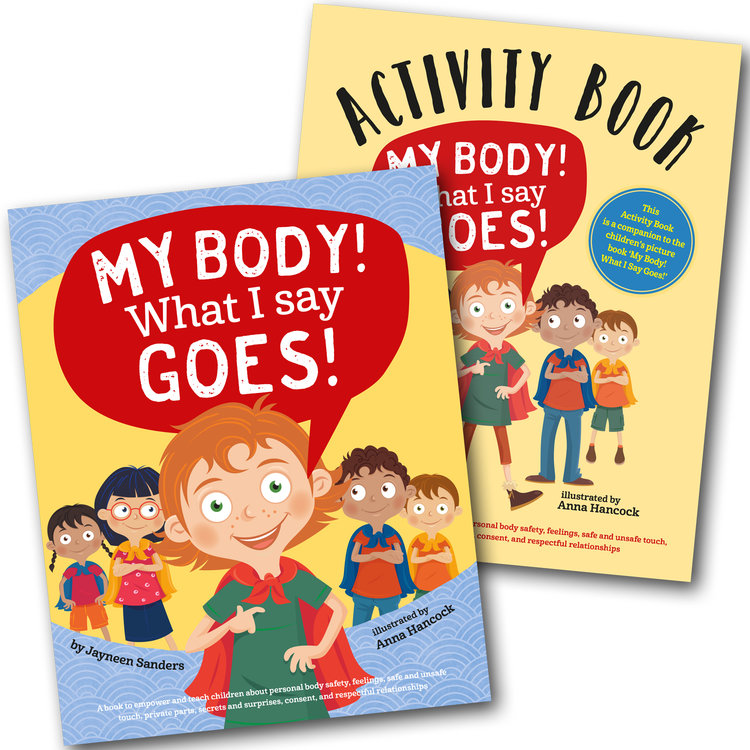 My Body! What I Say Goes! + Activity Book cover images